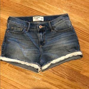 Girls Abercrombie kids denim shorts